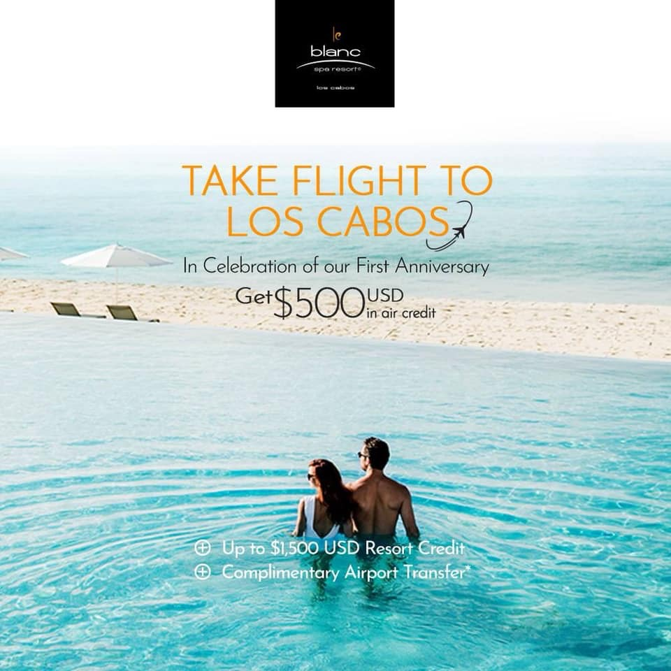 Flight credits for LeBlanc Los Cabos