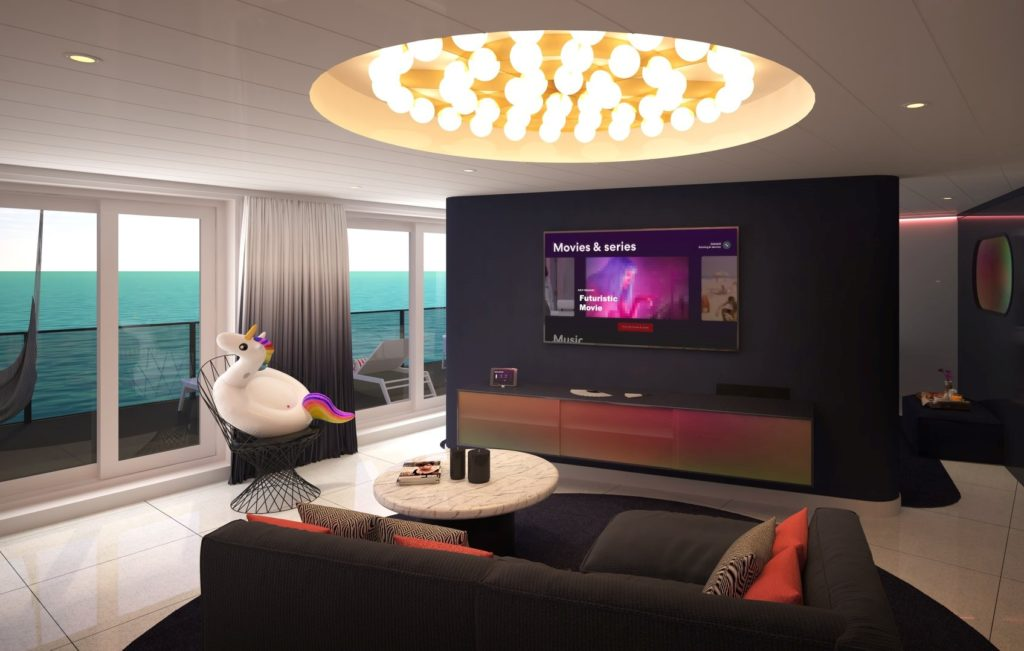 Virgin Voyages will have modern technologies equipped in every luxury suite